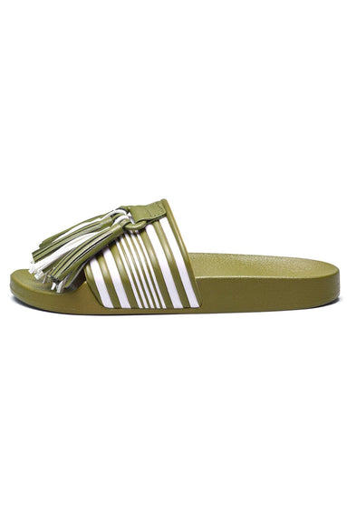 Gaby Sandal in Khaki Green