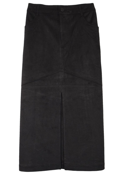 Harmonia Suede Skirt in Black