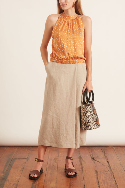 Loulou Top in Sandy Ochre