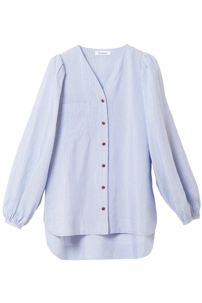 Oriona Stripe Blouse in Sky Blue
