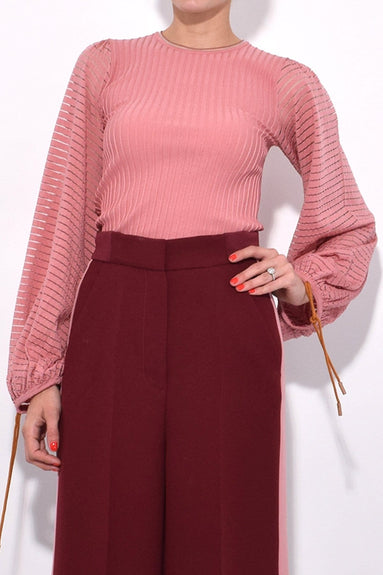 Saida Knit Top in Rose
