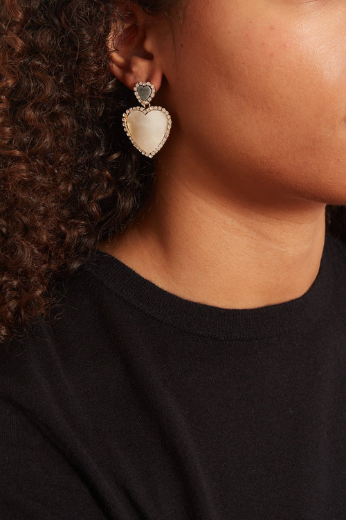 Olivia Earrings in White