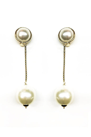 Epica Clip On Earrings in Pearl