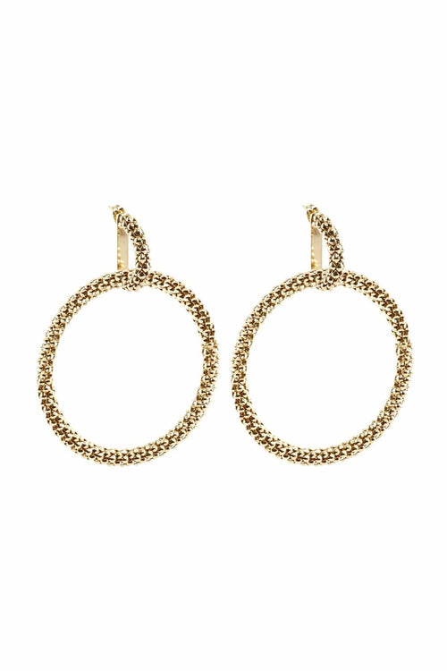 Onore Circle Earrings in Gold