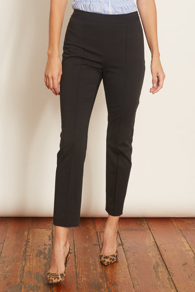 Pull On Cropped Skinny Pant in Black