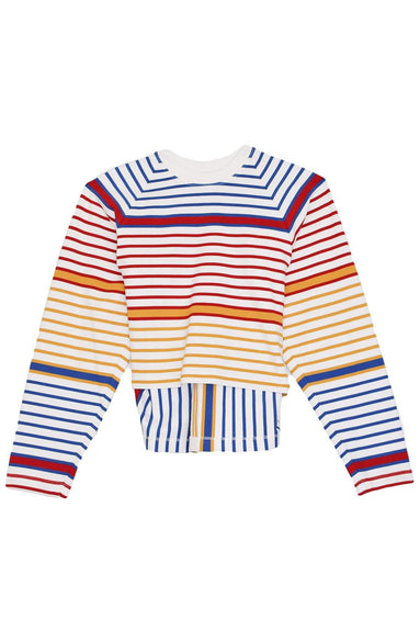 Cocoon Crewneck Pullover in Multi