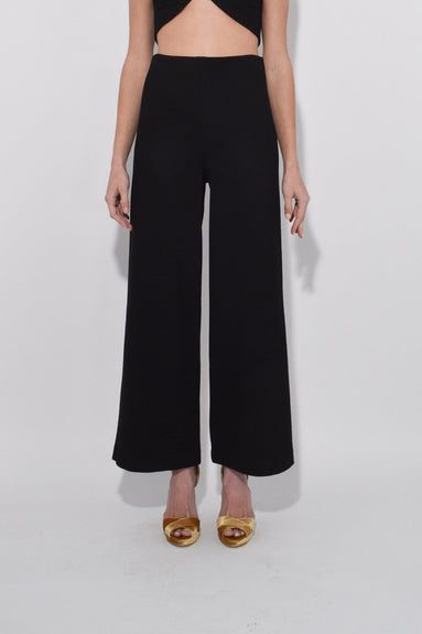 Cropped Straight Pant in Black