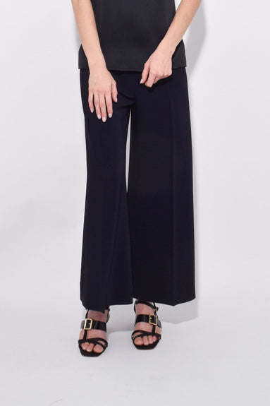 High Rise Cropped Trouser in Navy