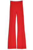 Pull On Cropped Flare Pant in Rouge