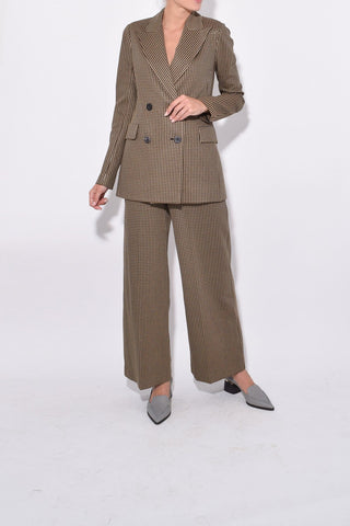 Pull-On Straight Trousers in Multi