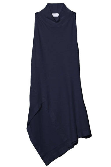 Sleeveless Paneled Turtleneck in Navy
