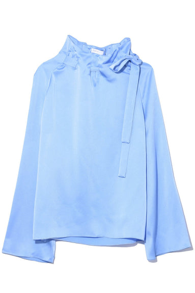 Tie Neck Top in Cerulean
