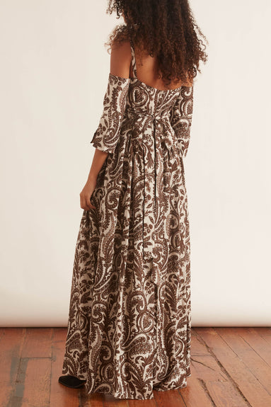 Court Day Dress in Brown/Natural