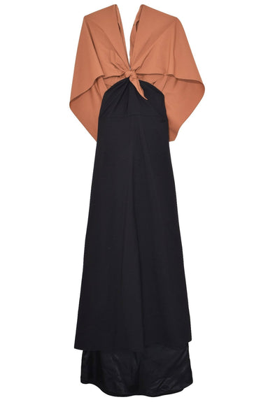Knotted Gown in Sera Black