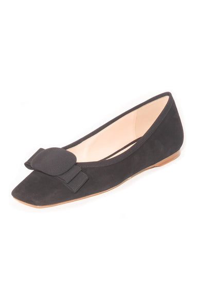 Ace Suede Flat in Black