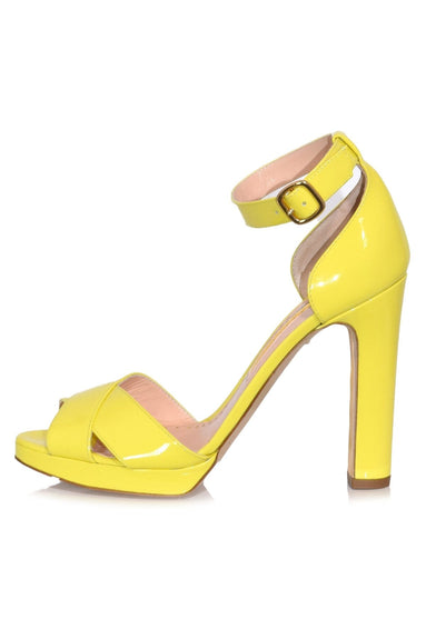 Meadow Patent Heel in Citrus