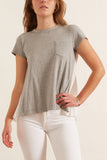 Cotton T-Shirt in Light Gray