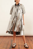 Metallic Dress in Silver