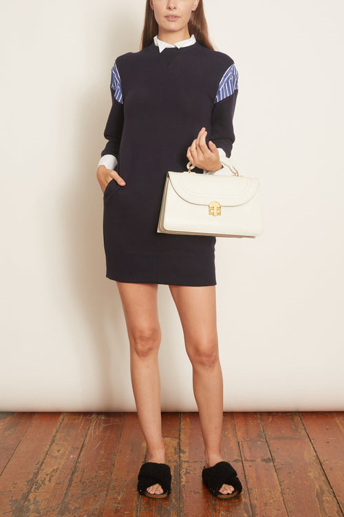 Sponge Sweat Dress in Navy