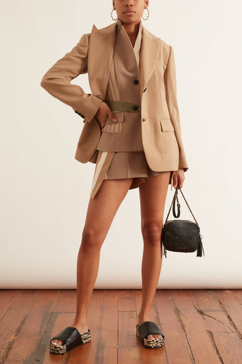 Suiting Shorts in Beige