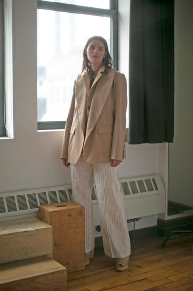 Suiting Tailored Jacket in Beige