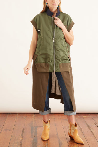Suiting Vest in Khaki