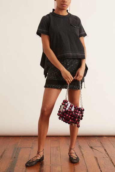 Summer Tweed Shorts in Black