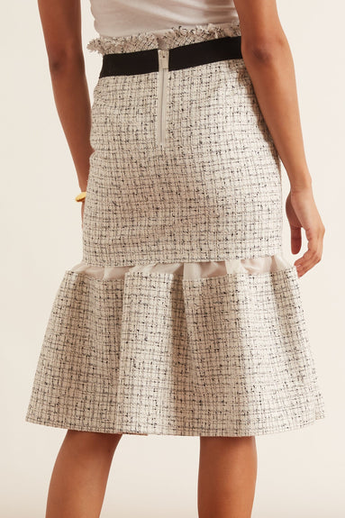 Summer Tweed Skirt in White