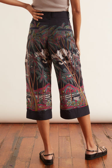 Sun Surf / Diamond Head Cropped Pants in Multi