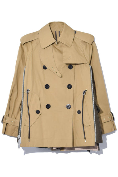 Cotton Coating Jacket in Beige/Khaki