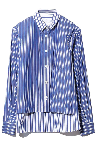Cotton Poplin Shirt in Stripe