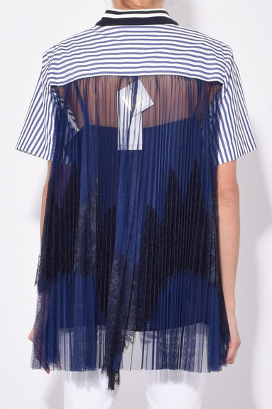 Lace x Shirting T-Shirt in Stripe