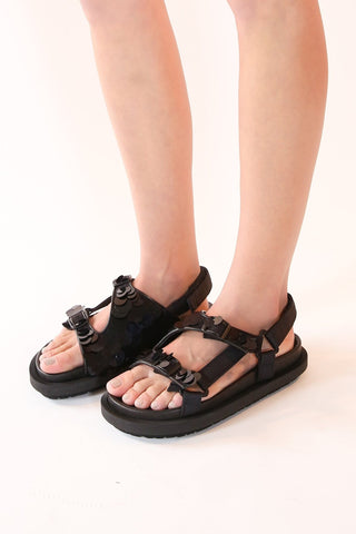 Spangle Sandals in Black