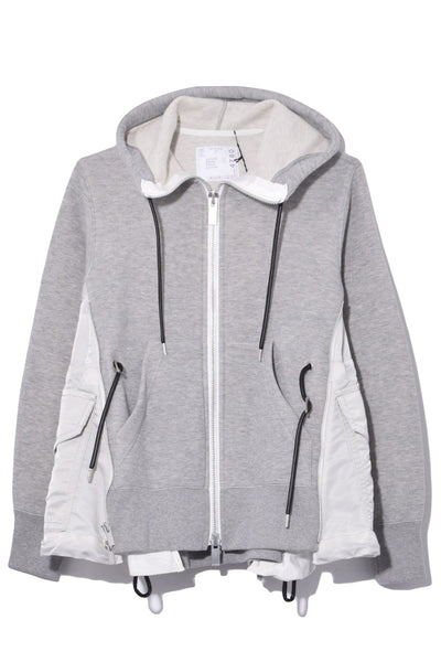Spongy Sweat Hoodie in Light Grey