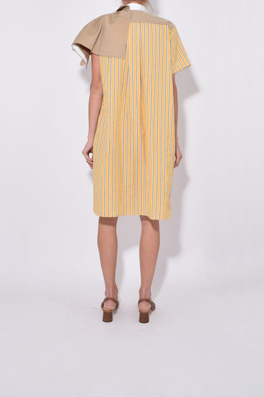 Stripe Shirting Dress in Yellow