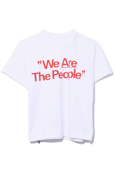 We Are The People T-Shirt in White/Red