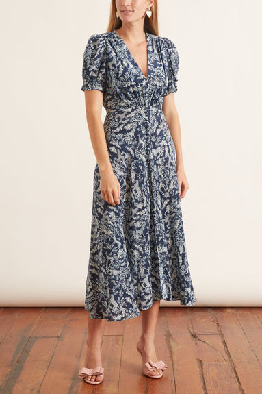 Lea Dress in Navy Menagerie