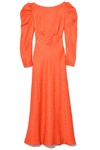 Alena Midi Dress in Bitter Orange