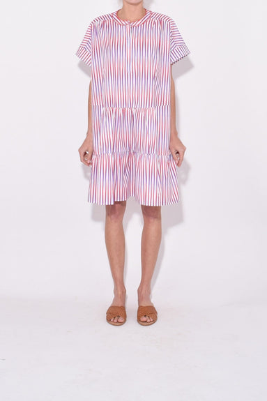 Ashley Dress in Optic Stripe