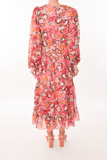 Isabel-D Dress in Valentine Damask