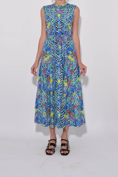 Remi Dress in Brushstroke Blossom Print