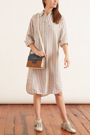 Amy Shirt Dress in Clematis