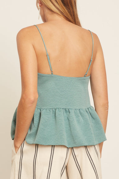 Judith Top in Oil Blue