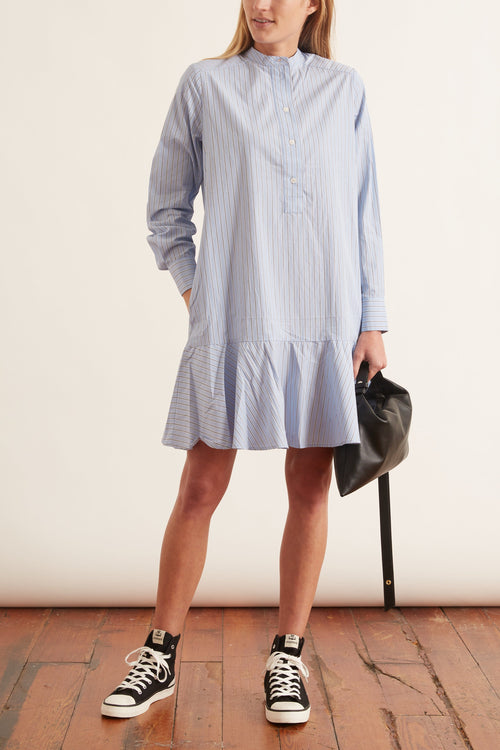 Laury Shirt Dress in Blue Stripe