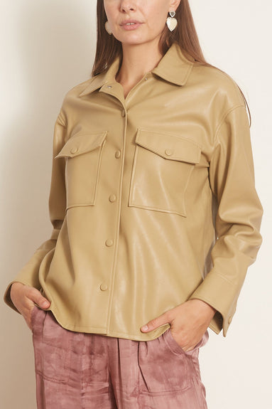 Shereen Overshirt in Olive Grey