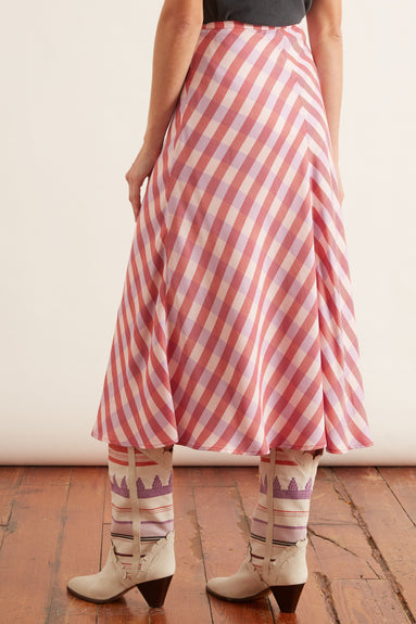 Loreta Skirt in Heather Rose Check