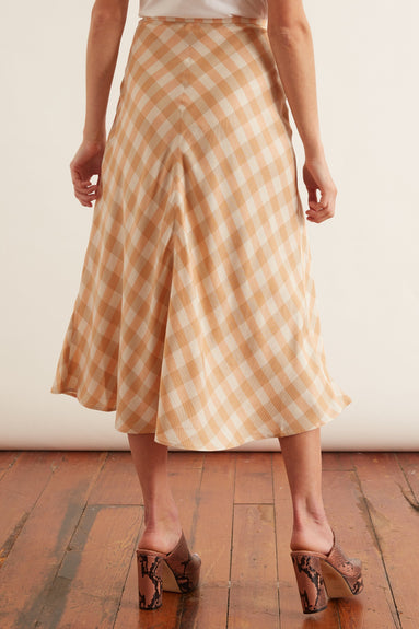 Loreta Skirt in Croissant Check