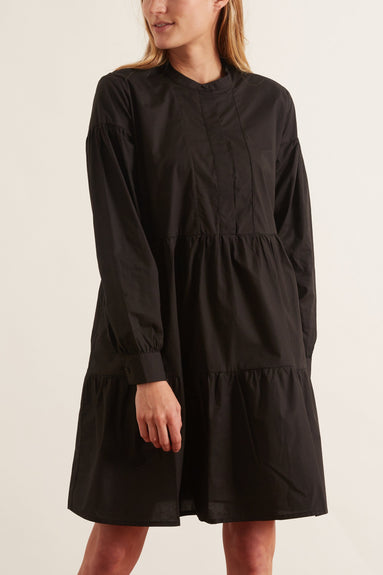 Margo Shirt Dress in Black