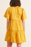 Clara Tiered Dress in Maize