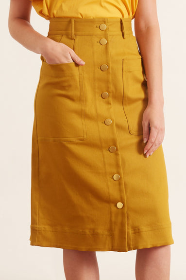 Corbin Skirt in Gold